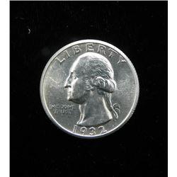 1932 Gem Unc Choice Washington Silver Quarter Rare