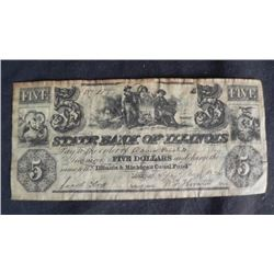 1968 Reproduction of an 1840 $5 Dollar, Illinois