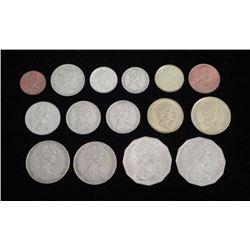 Lot of New Zealand & Australian Coins 1966-94 Many UNC