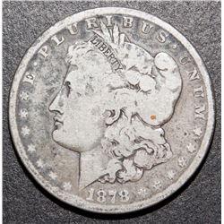 1878-S Morgan Liberty Silver Dollar US $1 Coin