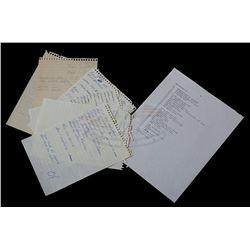 Back To The Future - Original Kevin Pike & William Klinger Notes & Gag Sheet