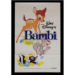 Bambi - Original Re-release 1982 One-Sheet Poster