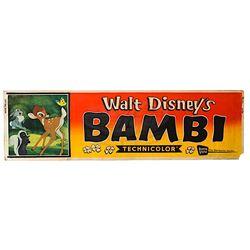 Bambi - Rare Original 1957 Release Theatrical Banner