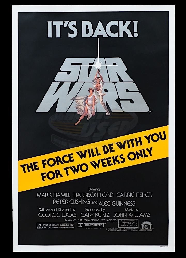 Star Wars Episode Iv A New Hope Original Re Release 1981 One Sheet Poster