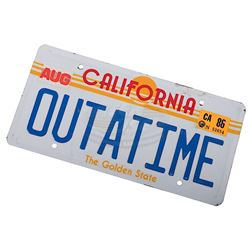 """Back To The Future - """"OUTATIME"""" License Plate"""