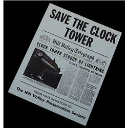 """Back To The Future Ride - """"Save The Clock Tower"""" Flyer"""