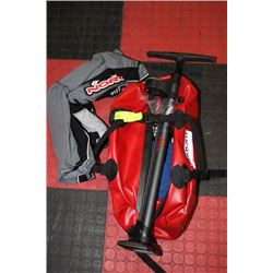 RED WATER PROOF AXIOM PERFORMANCE GEAR BAG