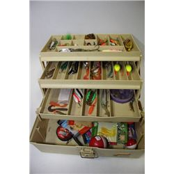 MEDIUM TACKLE BOX WITH CONTENTS X2