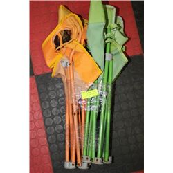 SET OF 2 ORANGE AND GREEN  CHILDRENS CAMP