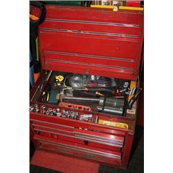RED 8 DRAWER TOOL BOX FULL OF TOOLS