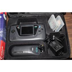 SEGA GAME GEAR-BAG WITH COMPLETE PORTABLE