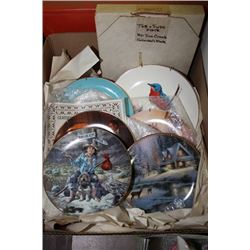 Box w/ 7 Collector's Plates Incl: Rockwell,