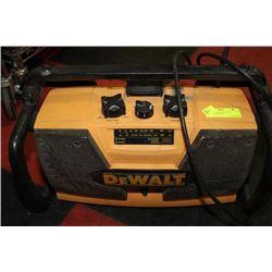 DEWALT JOBSITE RADIO W/ BATTERY CHARGER
