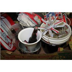 BOX OF BUDWEISER COLLECTIBLES