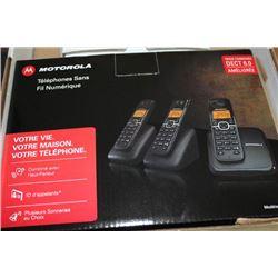 VONAGE/MOTOROLLA 3 PHONE CORDLESS SET