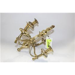 PAIR OF BRASS WALL CANDLE HOLDERS