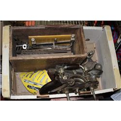 BOX OF VINTAGE WOODWORKING TOOLS
