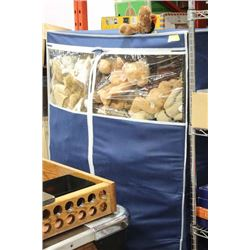 PORTABLE WARDROBE SOLD W LARGE COLLECTION OF