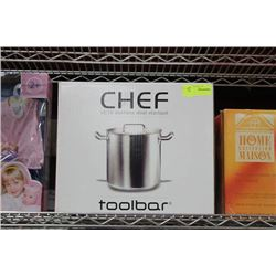 CHEF ST STEEL STOCK POT