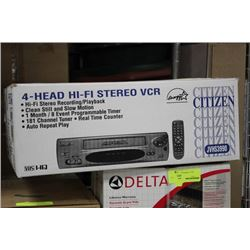 NEW CITIZEN 4 HEAD VCR W REMOTE, CLASSIC SEALED