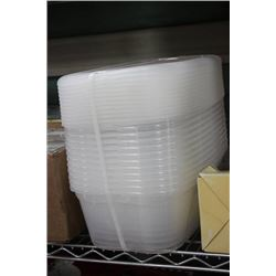 PK OF 12 NEW PLASTIC CONTAINERS