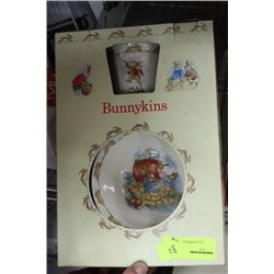 BUNNYKINS COLLECTOR CUP AND BOWL