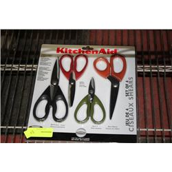 NEW KITCHENAIDE 4 PC ST STEEL SCISSOR SET