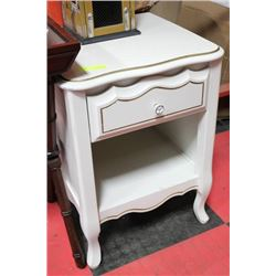 WHITE 1 DRAWER NIGHT STAND