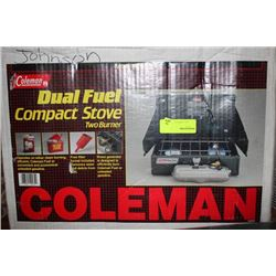 COLEMAN DUAL FUEL COMPACT STOVE