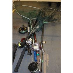 ASST. FISHING RODS AND NETS SOLD TOGETHER
