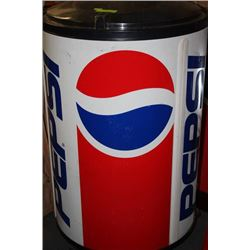 GIANT 3FT ROUND PEPSI COOLER ON WHEELS
