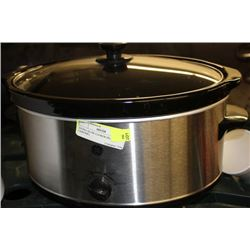EXTRA SLOW COOKER (BLACK & CHROME)