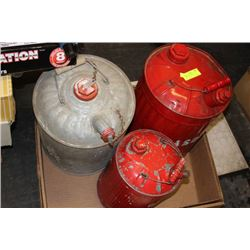 3 METAL GAS TANKS