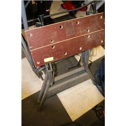 WOOD AND METAL WORK BENCH