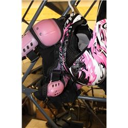 LADIES MOTOCROSS GEAR AND HELMET (HKL) SMALL