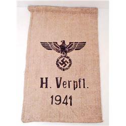 GERMAN NAZI 1941 H. VERPFL. SUPPLY SACK