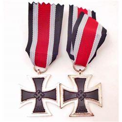 LOT OF 2 GERMAN NAZI CLASS IRON CROSSES