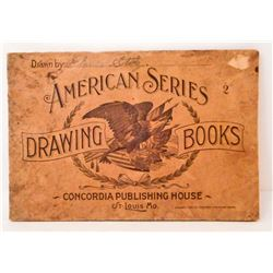 """ANTIQUE 1896 """"AMERICAN SERIES DRAWING BOOKS"""" SOFTCOVER BOOK"""