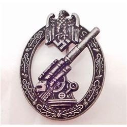 GERMAN NAZI ARMY FLAK 88 ARTILLERY BADGE