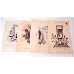 LOT OF 4 1914-15 BLACK AMERICANA CREAM OF WHEAT ADVERTISEMENTS