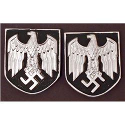 GERMAN NAZI ARMY AFRIKA KORPS PITH HELMET SHIELDS