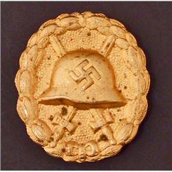 GERMAN NAZI GOLD WOUND BADGE