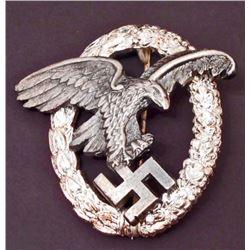 GERMAN NAZI LUFTWAFFE OBSERVER BADGE