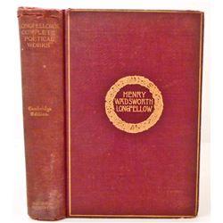 "1893 ""HENRY WADSWORTH LONGFELLOW"" HARDCOVER BOOK"