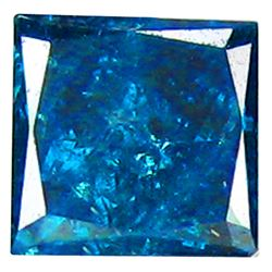 RARE 0.15 CT MID-NIGHT BLUE PRINCESS CUT DIAMOND