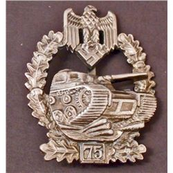 GERMAN NAZI ARMY TANK ASSAULT BADGE