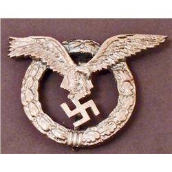 GERMAN NAZI LUFTWAFFE PILOT / OBSERVER BADGE