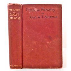 """1890 """"PERSONAL MEMOIRS OF GEN'L. W. T. SHERMAN"""" HARDCOVER BOOK"""