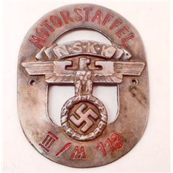 GERMAN NAZI NSKK SHIELD