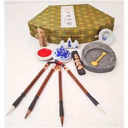 11 PIECE CHINESE TRADITIONAL WRITING TOLLS SET IN BOX